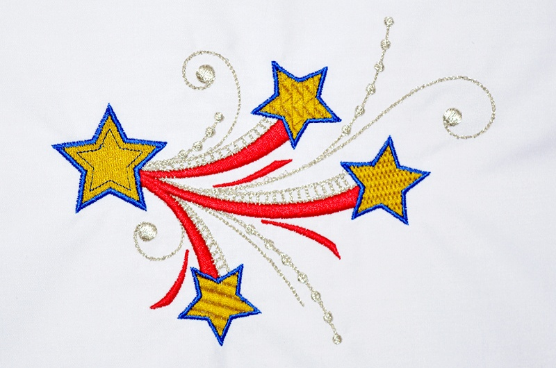 Stars embroidery