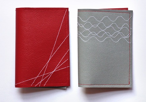 diy stitched vinyl wallets