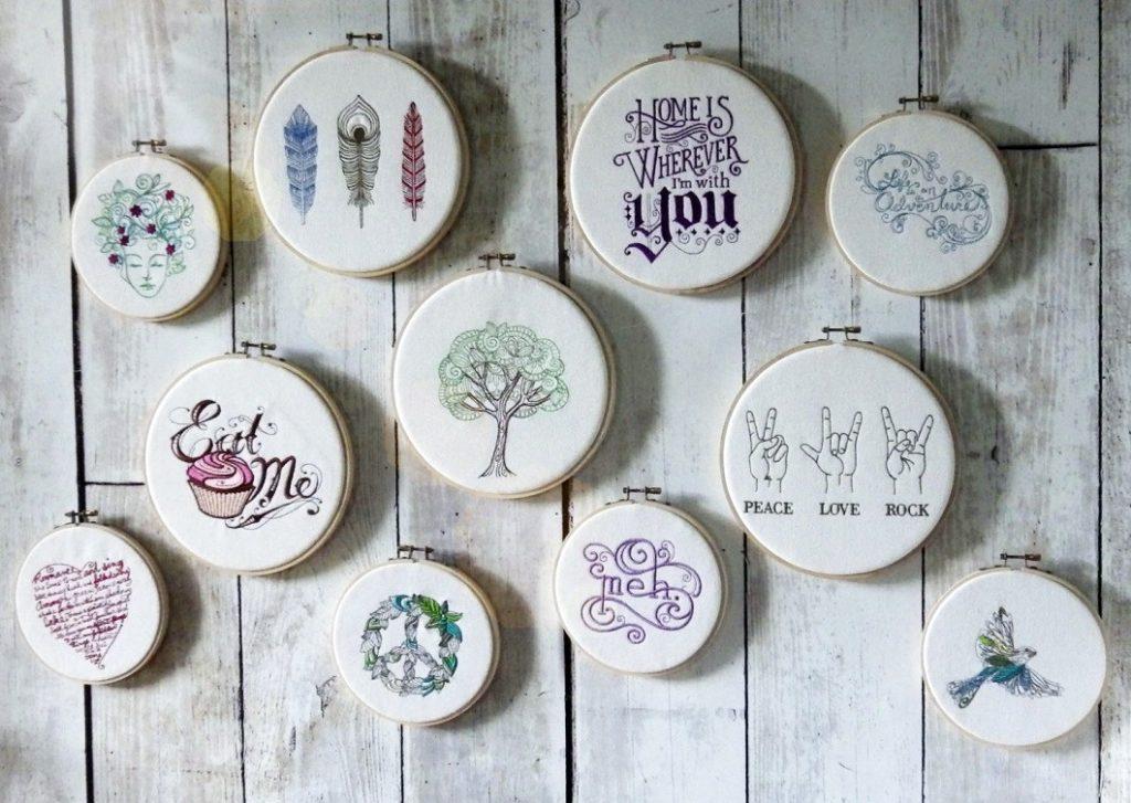 hoop wall art