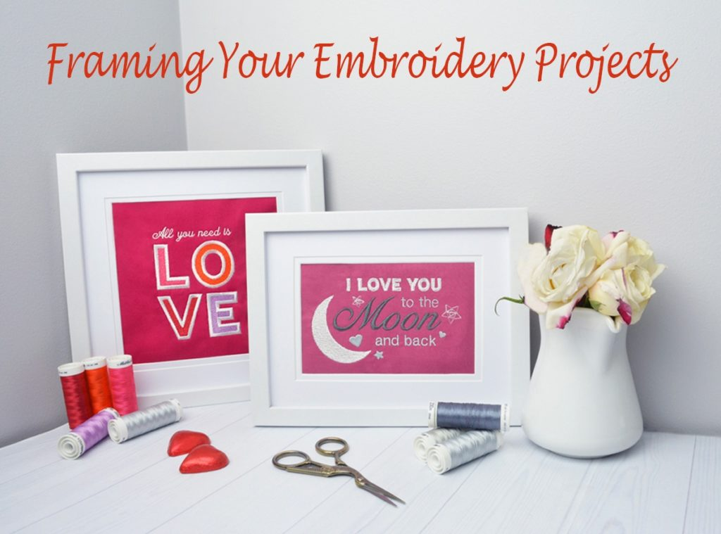 framing embroidery