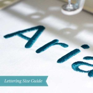 Choosing the Right Size Embroidery Lettering for your Project