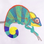 Digitizing Carlo the Chameleon – Downloadable FREE Design