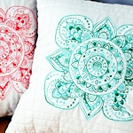 How to Turn Coloring Book Designs into Quilted Mandala Pillows
