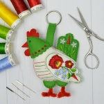 Hungarian Folk Hen – Construction Machine Embroidery