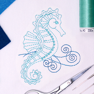 Create Beautiful Ethereal Embroidery Designs with the Amazing Redwork Tool