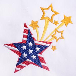 Digitizing the Patriotic Star Embroidery Design