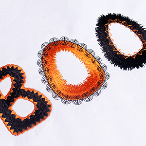 Halloween Lettering Fun with Hatch Embroidery for Beginners