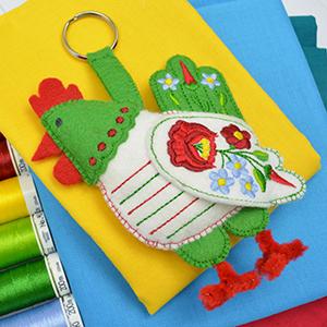 Hungarian Folk Hen – Construction Machine Embroidery