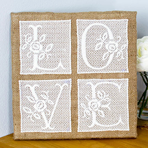 Free Standing Lace Wall Art Project