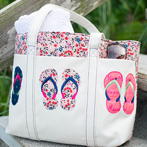 Summer Tote with Flip-Flops Appliqué – Instructions & FREE Design