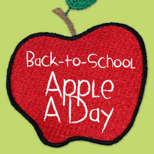 """An-Apple-A-Day"" Video Series With FREE Apple Embroidery Designs"