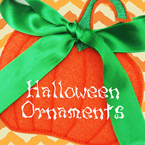 Halloween Ornaments Project with FREE Instructions & Embroidery Designs