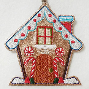 Sweet Gingerbread Houses by Sandra Fuller