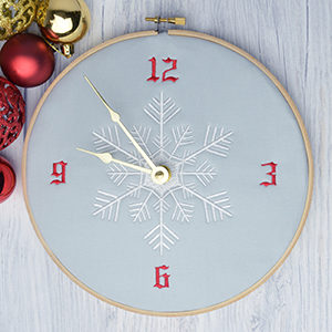 Time is Ticking! Last 'Minute' Embroidered Clock Christmas Gift
